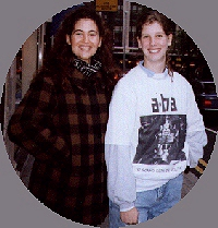 Lauren Savoy and Anna Adeney (me): Kensington, London 1991. How much have I changed in 6 years? NOT AT ALL :)